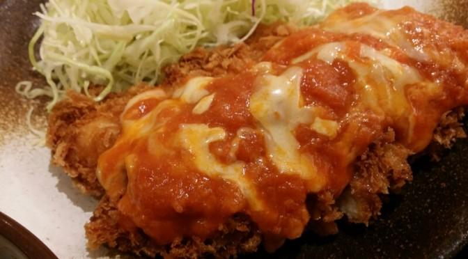 松乃屋 チーズトマトささみかつ定食を食べてみました。