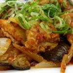 松屋 鶏の甘辛味噌炒め定食2015を食べてみました。
