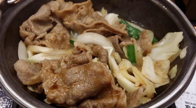 吉野家 牛バラ野菜焼定食を食べてみました。