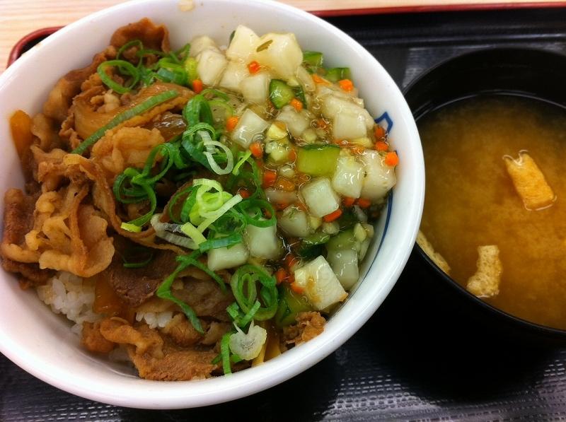 松屋 生姜だし牛めし を食べてみました。