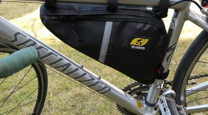 YANHO 自転車用防水トライアングルバッグ レビュー
