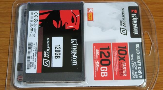 キングストンのSSDを買ったら公称値の半分以下の速度でした。
