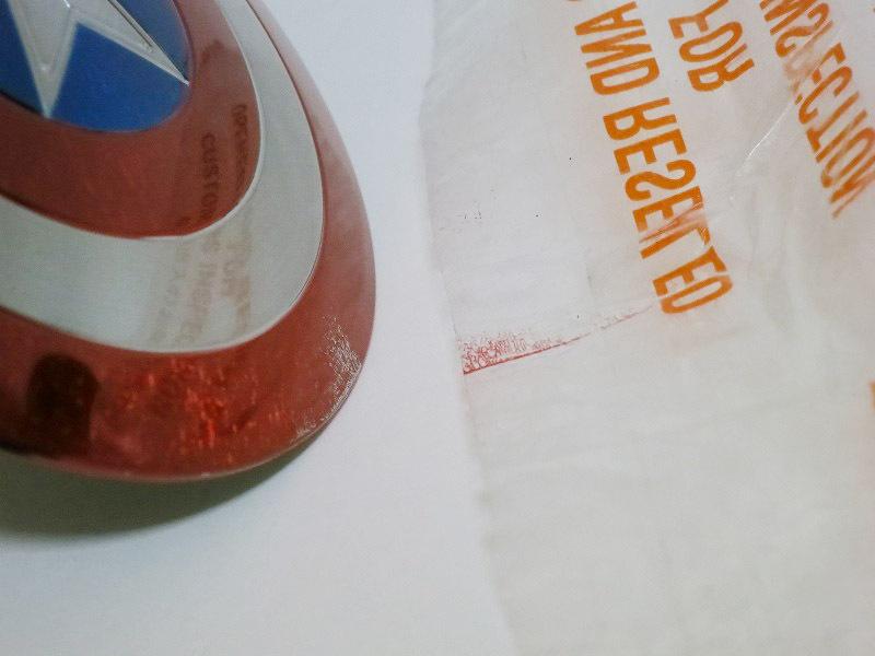 ホットトイズ キャプテンアメリカ シールド塗装補修