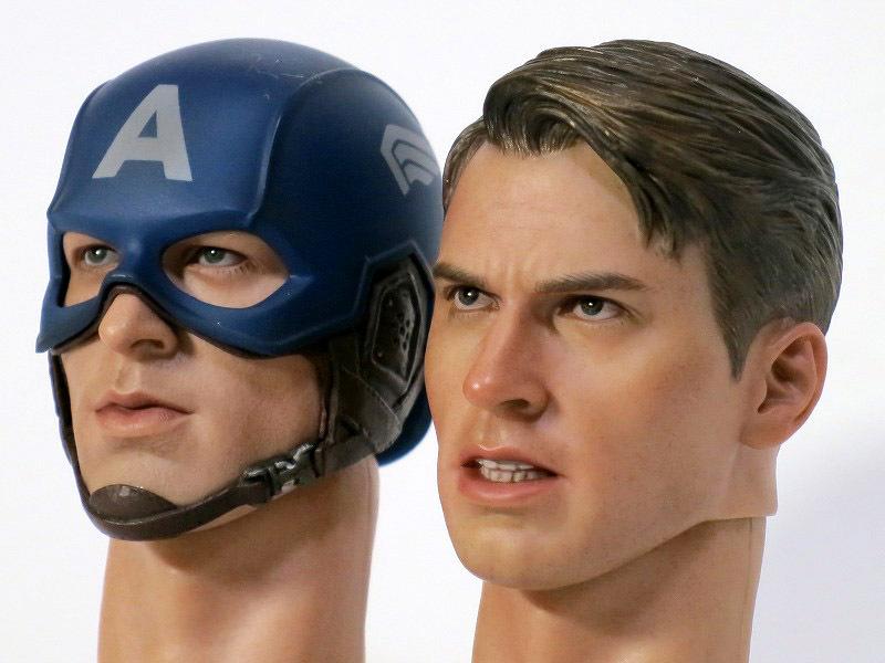 ホットトイズ キャプテン・アメリカ アベンジャーズ版比較(ヘッドのみ)レビュー