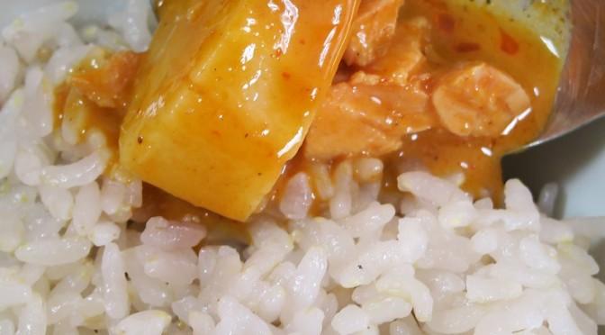 いなば じゃがいも・豆のタイカレー マッサマン 缶詰を食べてみました。