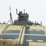 フジミ ちび丸艦隊 赤城 レビュー その3 木甲板シール編