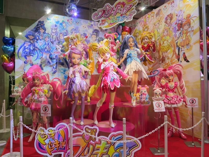 バンダイブース 等身大プリキュア 東京おもちゃショー2013