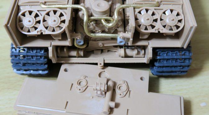 ライフィールド フルインテリア ティーガー1 レビュー その4 エンジン周辺のディティールアップ