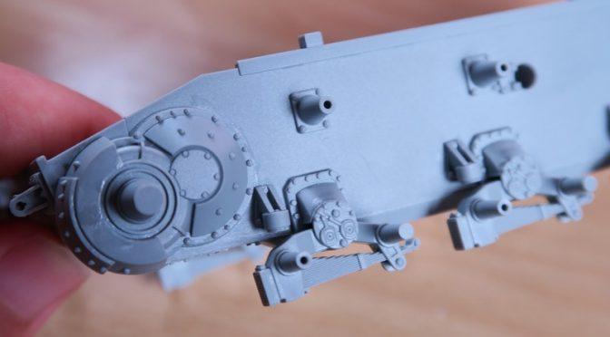 1/35 ドラゴン IV号戦車 F1型 レビュー その2 リーフ式サスペンションの組み立て