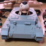 1/35 ドラゴン IV号戦車 F1型 レビュー その4 車載機銃、ボッシュライトの真鍮線補強