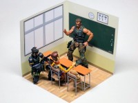 1/12 figmaサイズ 学校の教室 ペーパークラフト 背景用